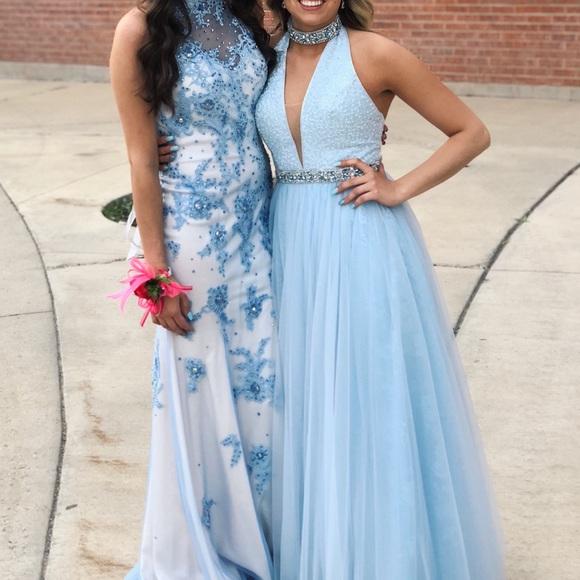 Sherri Hill Dresses Pastel Blue Prom Dress Poshmark